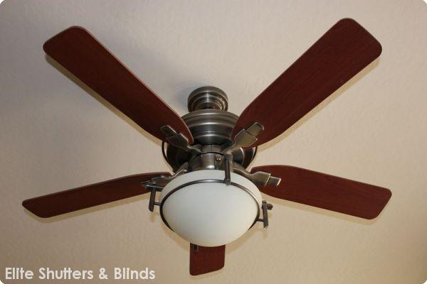 Ceiling Fanselite Shutters Amp Blinds Shutters Amp Blinds